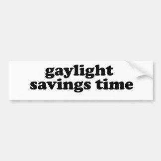 GAYLIGHT SAVINGS TIME BUMPER STICKER