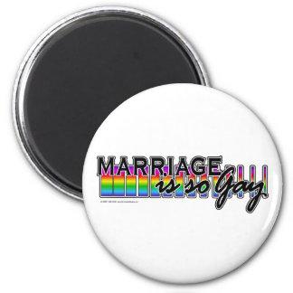 GayMarriageRainbowBar 2 Inch Round Magnet