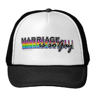 GayMarriageRainbowBar Gorras De Camionero