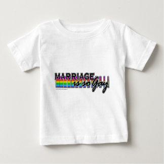 GayMarriageRainbowBar Playera De Bebé
