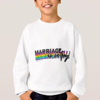 GayMarriageRainbowBar Sudadera