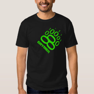Gaymer Binary Bear Paw (Green) T-shirt