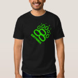 Gaymer Binary Bear Paw (Green) Tee Shirt