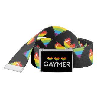 Gaymer Funny Nerdy LGBT Pride Hearts Belt