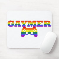 Gaymer, LGBTQ Gamers Gift Idea Mouse Pad