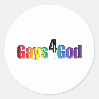 Gays4God Classic Round Sticker