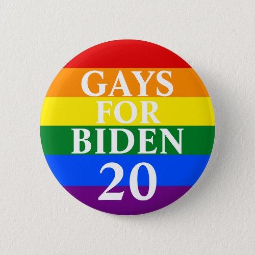 Gays For Biden Button