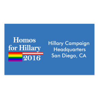 Gays for Hillary Clinton Business Card