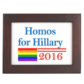 Gays for Hillary Clinton Memory Boxes