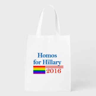 Gays for Hillary Clinton Reusable Grocery Bag
