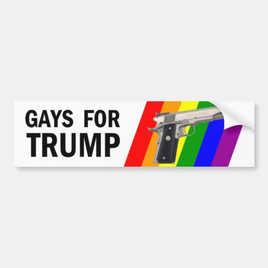 Gays for trump bumper sticker