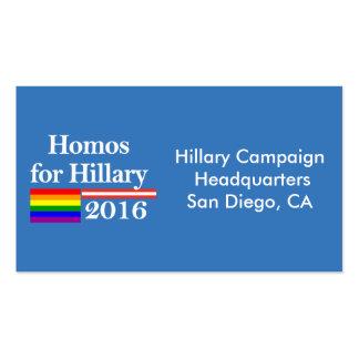 Gays para Hillary Clinton Tarjetas De Visita