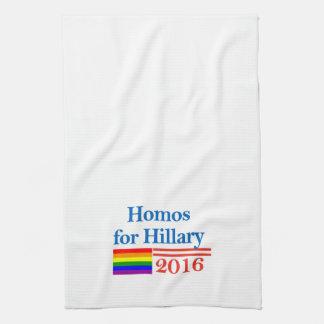 Gays para Hillary Clinton Toallas De Cocina