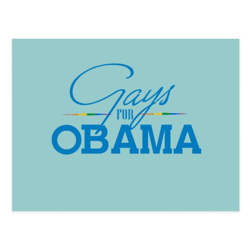 Gays para Obama Postales