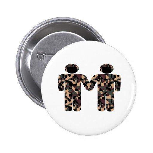 Gays uniformed pinback button