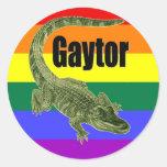 Gaytor Round Stickers
