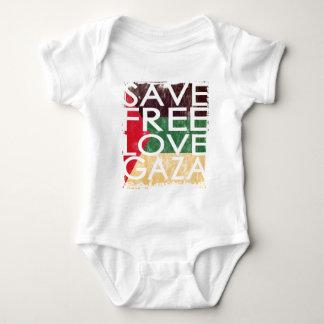 GAZA 2014 FREE SAVE LOVE BABY BODYSUIT