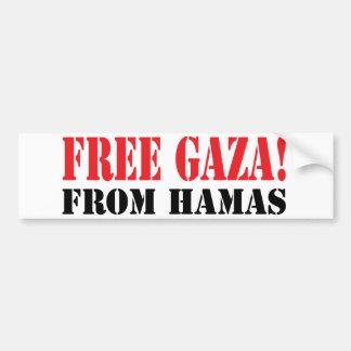 GAZA libre de HAMÁS Pegatina De Parachoque