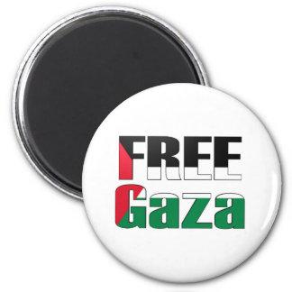 Gaza libre imán redondo 5 cm