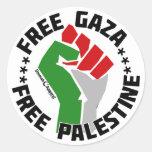 gaza libre libera Palestina Etiquetas Redondas