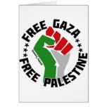 gaza libre libera Palestina Felicitación