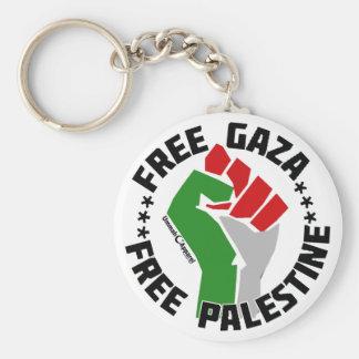 gaza libre libera Palestina Llavero Redondo Tipo Pin
