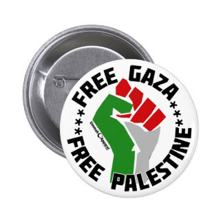 gaza libre libera Palestina Pin Redondo 5 Cm