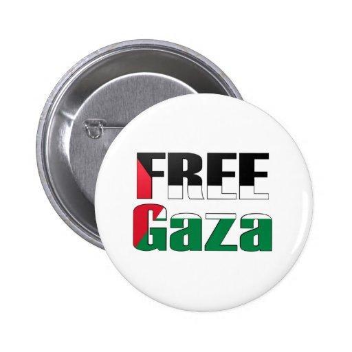 Gaza libre pin redondo 5 cm
