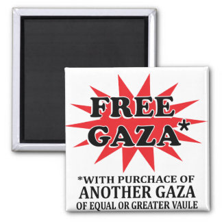 GAZA LIBRE - remake divertido Imán Cuadrado