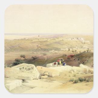 Gaza, placa del volumen II 'del Land santo Pegatina Cuadrada