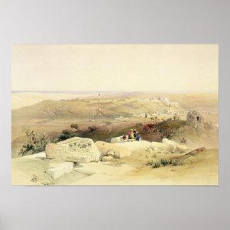 Gaza, placa del volumen II 'del Land santo Póster