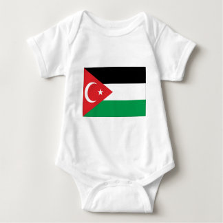 Gaza Turkey solidarity flag Baby Bodysuit