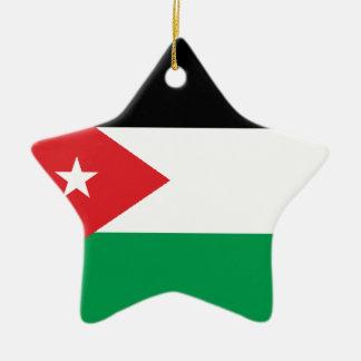 Gaza Turkey solidarity flag Ornament