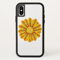 Gazania Flower Tribal Peacock iPhone X Case