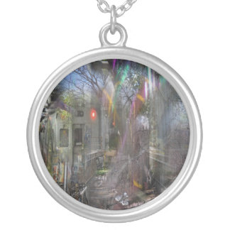 Gaze of Pegasus Silver Plated Necklace
