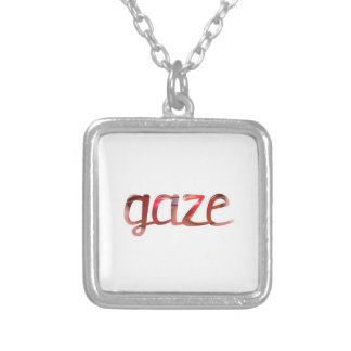 Gaze Silver Plated Necklace