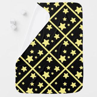 Gaze upon the yellow stars baby blanket