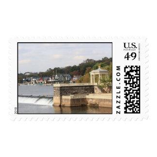 Gazebo at Boathouse Row Postage Stamp