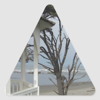 Gazebo at the Beach Triangle Sticker