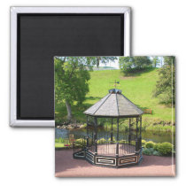 Gazebo by the River Doon, Scotland Magnet
