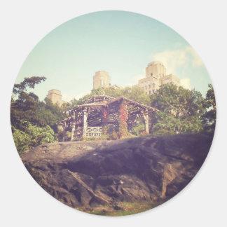 Gazebo, Central Park, New York City Classic Round Sticker