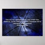 Gazebo de la oscuridad - Edgar Allen Poe Poster