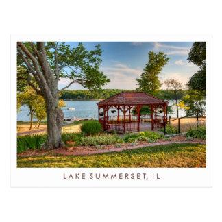 Gazebo de Summerset Illinois del lago Tarjetas Postales