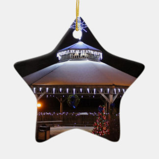 Gazebo del navidad adorno de cerámica en forma de estrella