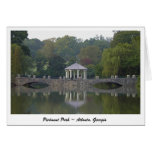 Gazebo en el parque de Piamonte - Atlanta, GA Tarjeta De Felicitación