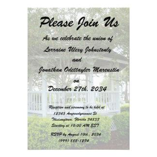 gazebo Fort Pierce trasero la Florida Invitacion Personalizada