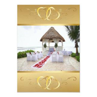 Gazebo On The Beach Wedding Invitation3 Card