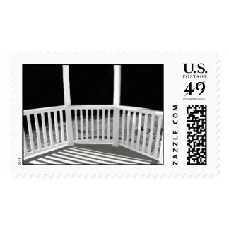 gazebo rail black and white stamp