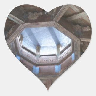 Gazebo roof: bird nest near hornets nests heart sticker