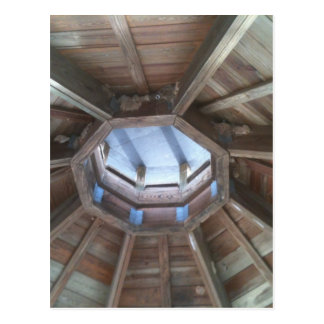 Gazebo roof: bird nest near hornets nests postcard